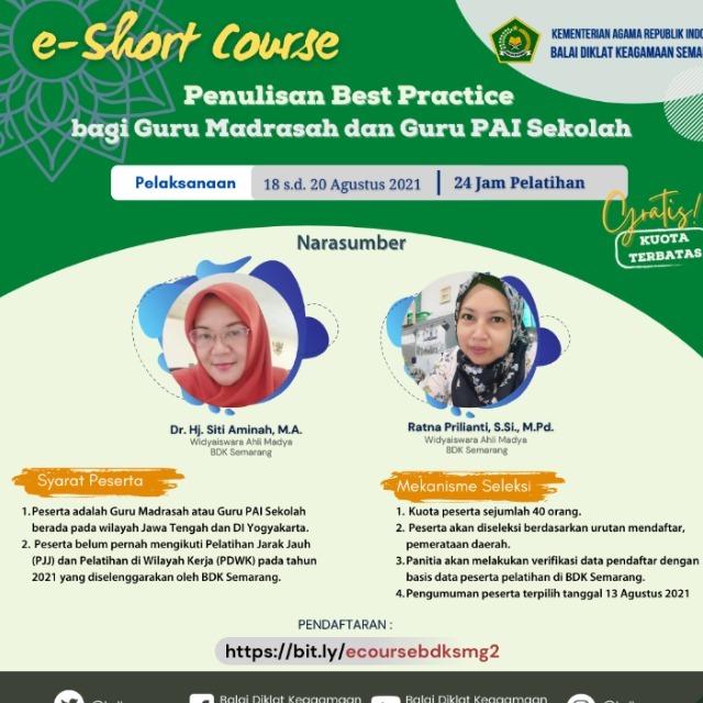 Penulisan Best Practice bagi Guru Madrasah dan Guru PAI Sekolah